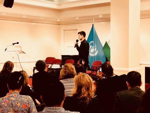 Ambassador Raffaello DeGruttola gives speech at UN