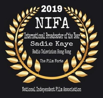 NIFA International Broadcaster of the Year - Sadie Kaye