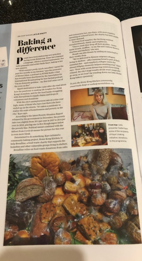 Sadie Kaye and Home Kong Kitchen in the SCMP Post Magazine
