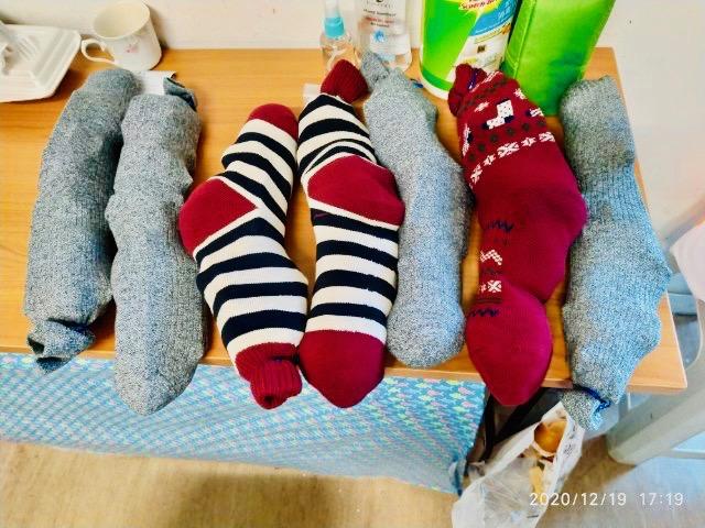 Christmas Gift Socks for Jordan Domestic Helper Refuge
