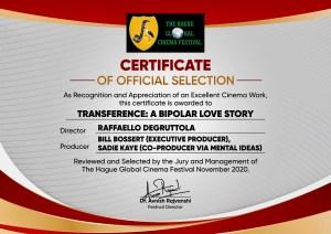 Transference Selected for European Cinema Festival & 2 More!
