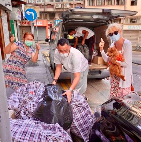 Unloading HKK Donation for Refugees @ Refugee Union