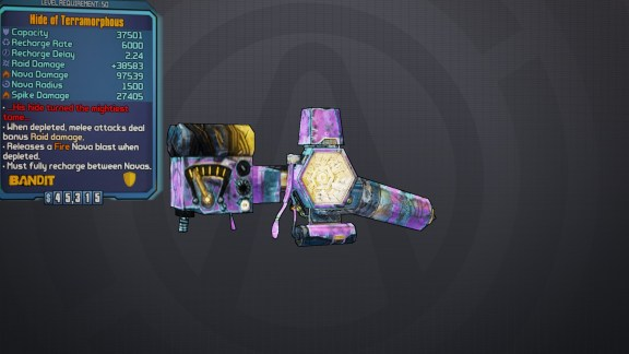 Legendary Hide of Terramorphous Shield - Borderlands 2