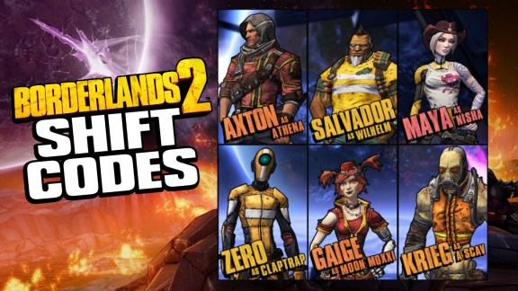 Borderlands 2 Shift Codes for Pre-Sequel Skins
