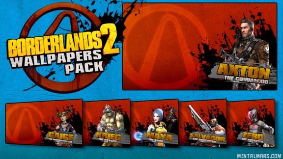 Borderlands 2 Splatter Wallpaper Pack - Vault Hunters