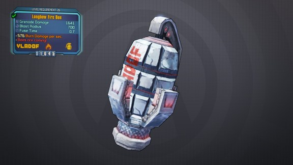 BLTPS Legendary Grenade Mod - Fire Bee