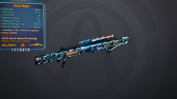 Magma - Borderlands Legendary Sniper