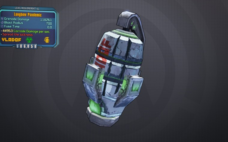 BLTPS Legendary Grenade Mod - Pandemic