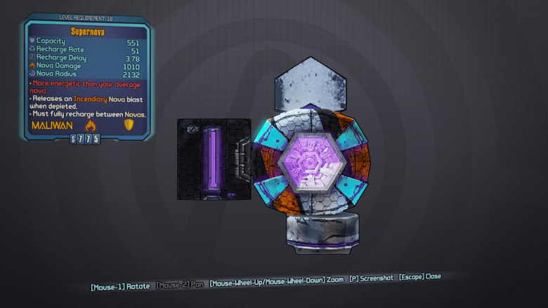 BLTPS Legendary Shield - Supernova