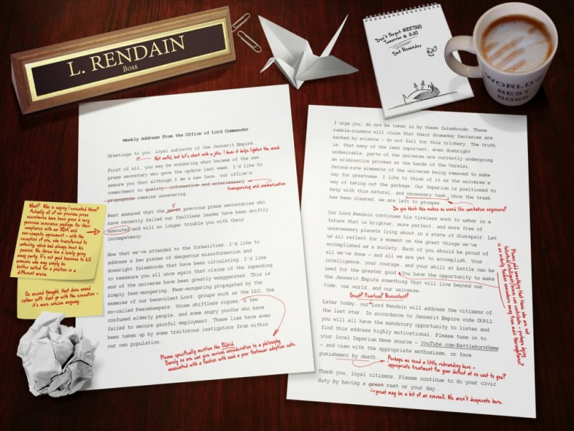 Battleborn Rendain Weekly Address