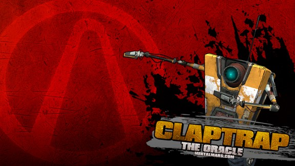Borderlands Splatter Wallpaper - Claptrap