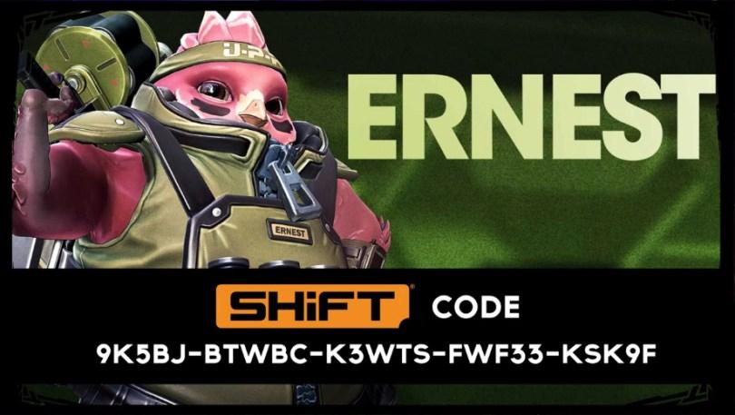 Ernest Golden Skin Code