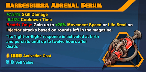 Beatrix Legendary Gear - Battleborn