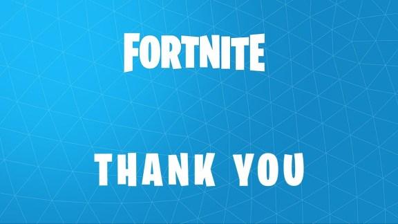 Fortnite Devs Thanks Players