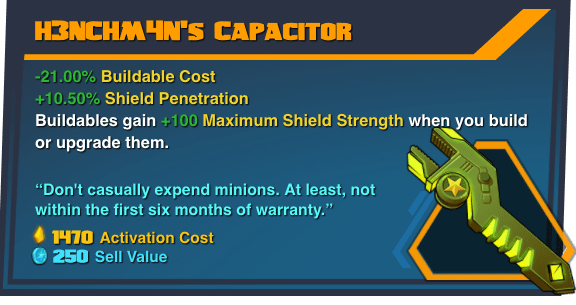 H3NCHM4N's Capacitor - Battleborn Legendary Gear