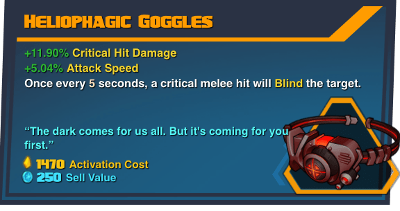 Heliophagic Goggles - Battleborn Legendary Gear