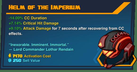 Helm of the Imperium - Battleborn Legendary Gear