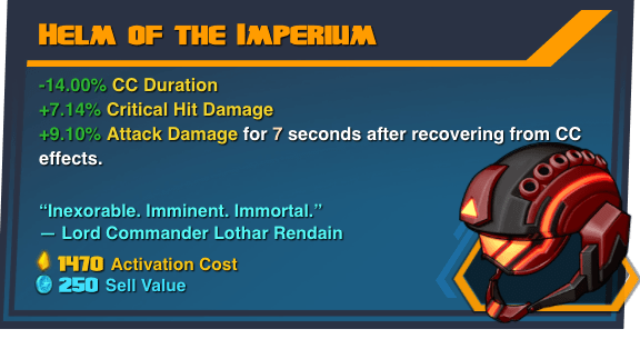 Helm of the Imperium - Battleborn Legendary Gear