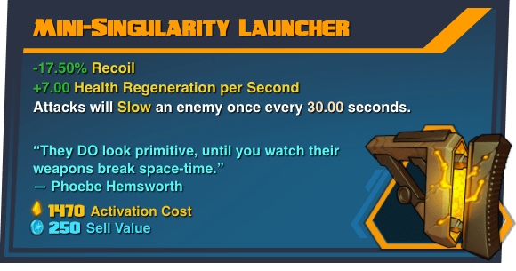 Mini-Singularity Launcher - Battleborn Legendary Gear