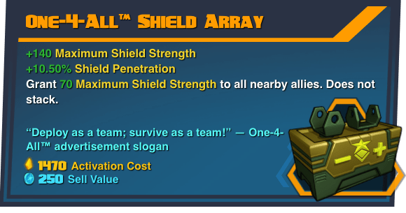 One-4-All™ Shield Array - Battleborn Legendary Gear