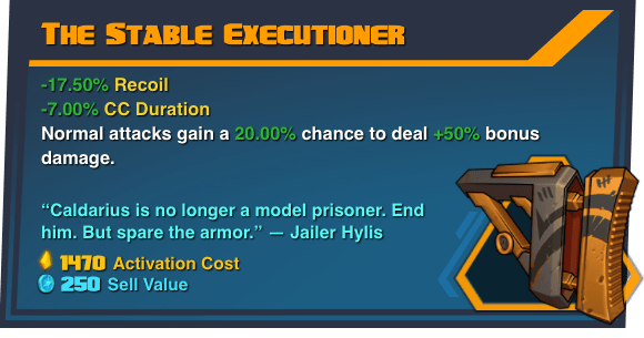 Stable Executioner - Battleborn Legendary Gear