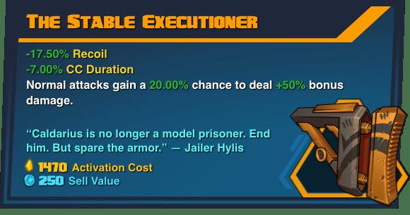 Stable Executioner - Battleborn Legendary Gear