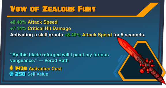 Vow of Zealous Fury - Battleborn Legendary Gear