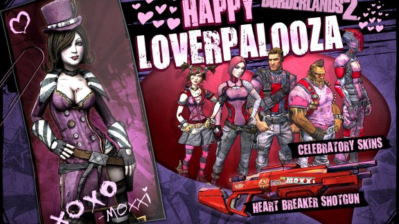 borderlands 2 loverpalooza skins shiftcodes