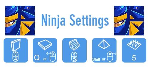 Ninja Fortnite Settings
