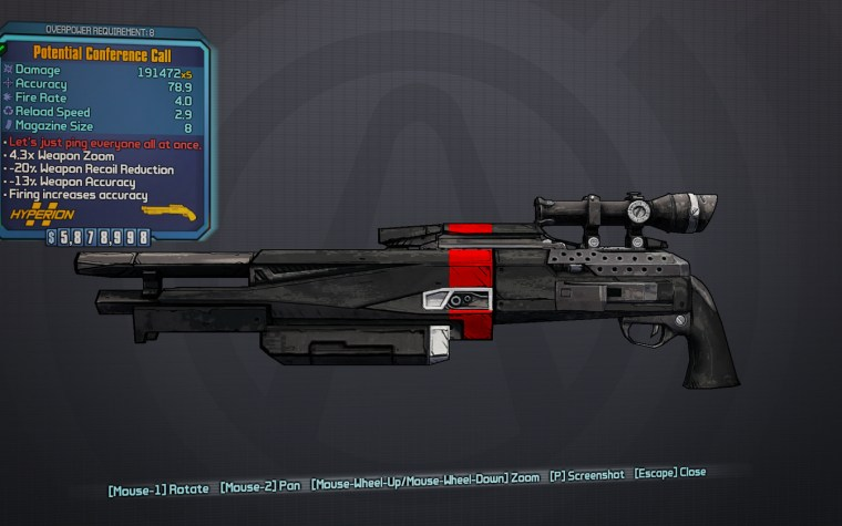 Borderlands 2 legendary equipment