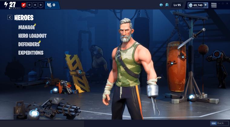 Fortnite new heroes screen