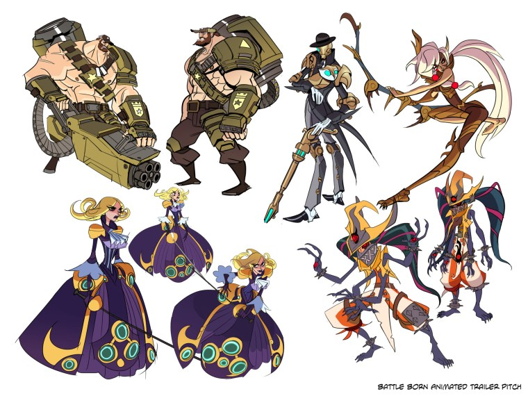 Battleborn concept art by Mindy Lee for 6pt