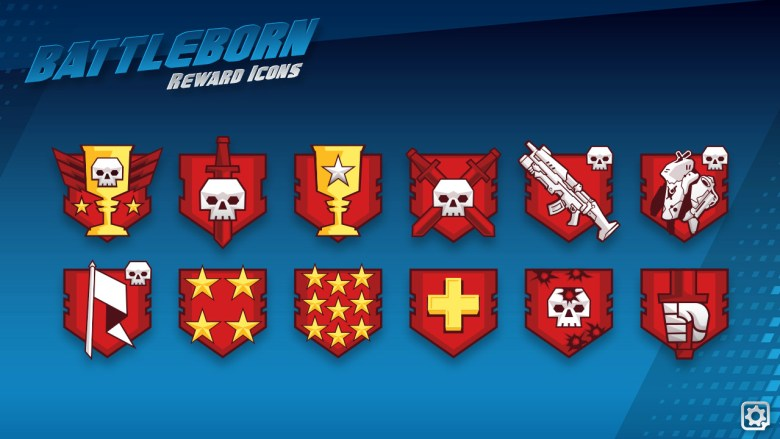 Here is a close up view of a bunch of reward icons. You got rewarded for things like; Win your first match of the day, most minions killed, or get a kill stream.