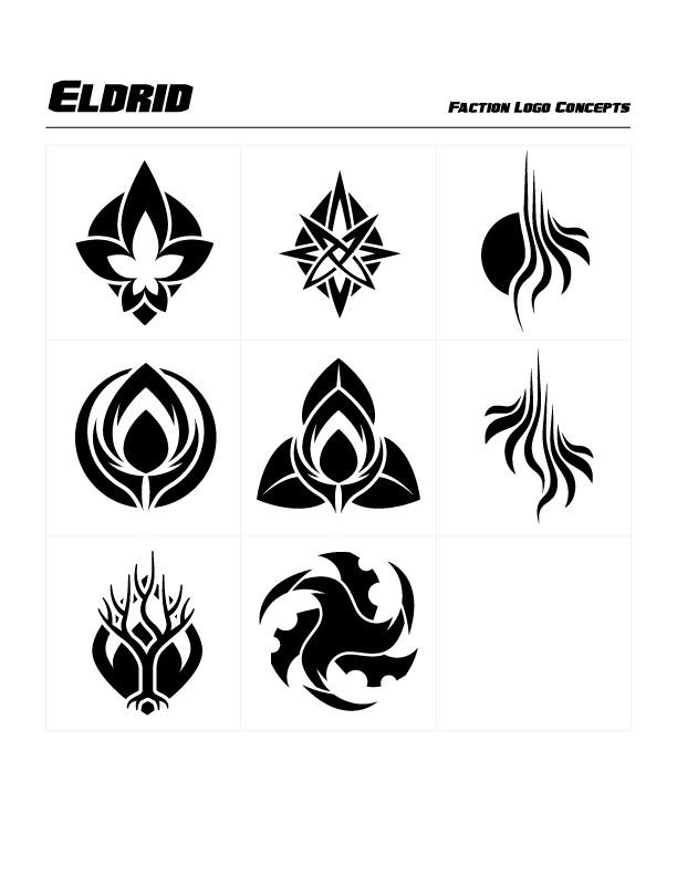 Eldrid Faction Concept Logos by Michael Paskar
