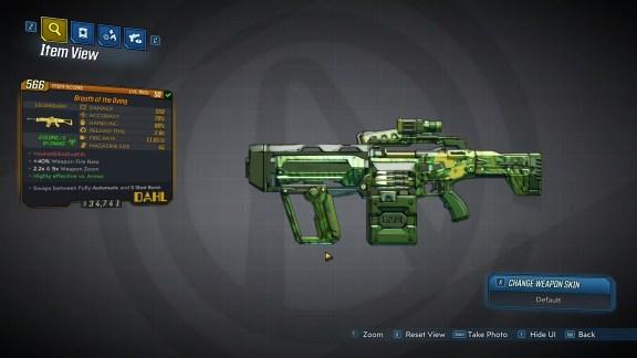 Borderlands 3 Legendary Dahl Assault Rifle - Breath of the Dying