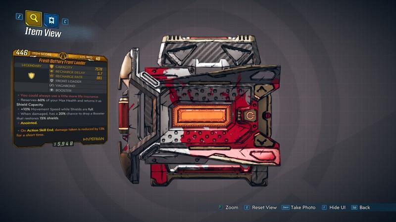 Borderlands 3 Legendary Hyperion Shield - Front Loader