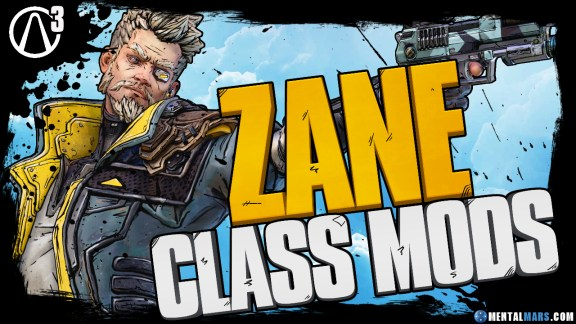 Borderlands 3 Zane Legendary Class Mods
