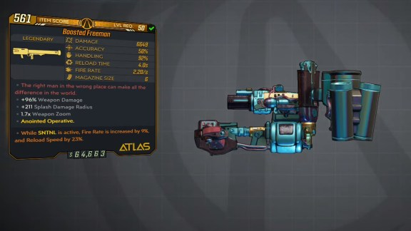 Borderlands 3 Legendary Atlas Rocket Launcher - Freeman