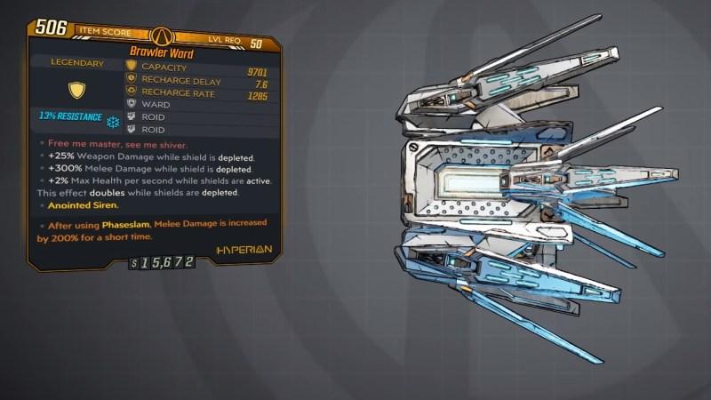 Borderlands 3 Legendary Hyperion Shield - Ward