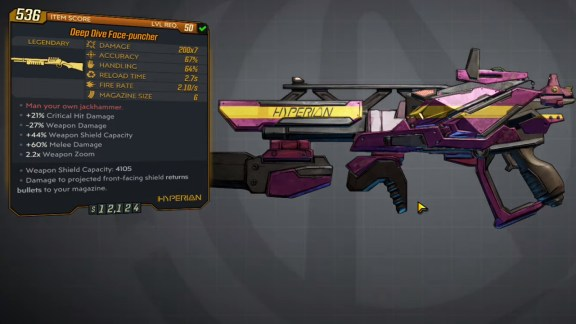 Borderlands 3 Legendary Hyperion Shotgun - Face-Puncher