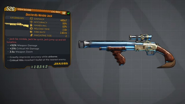 Borderlands 3 Legendary Jakobs Shotgun - Nimble Jack