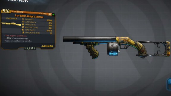 Borderlands 3 Legendary Jakobs Shotgun - Slege's Shotgun