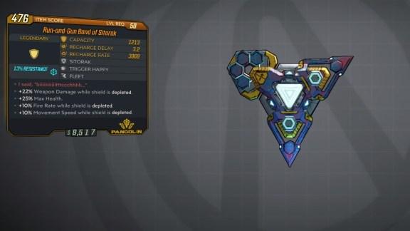 Borderlands 3 Legendary Pangolin Shield - Band of Sitorak