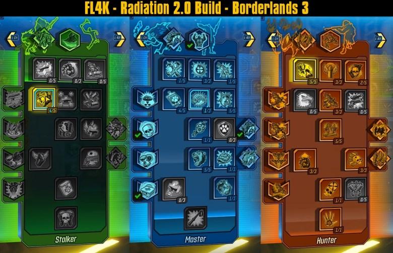 FL4K - Radiation 2.0 Build Skill Tree by Joltzdude139 - Borderlands 3