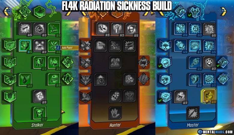 FL4K Radiation Sickness Build SKill Tree - Borderlands 3