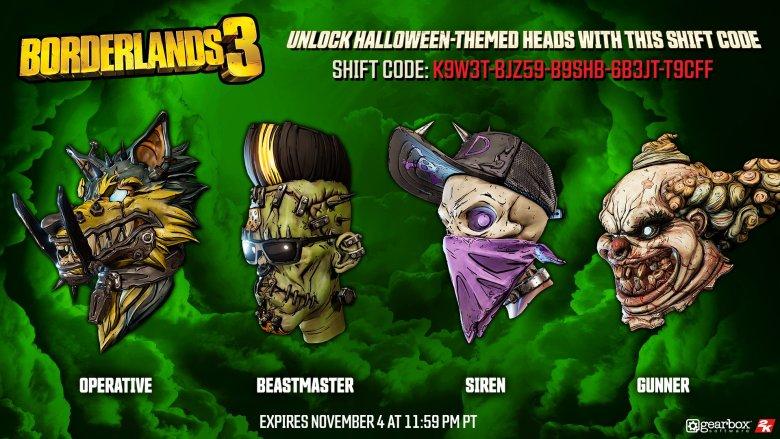 Spooky Heads - Borderlands 3