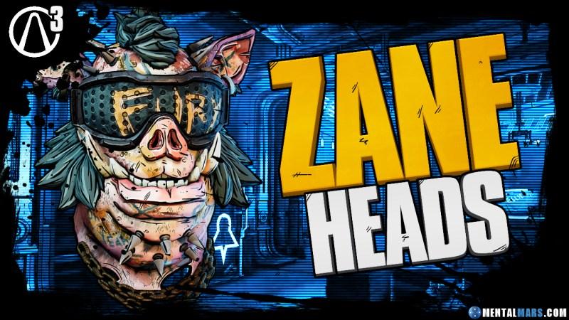 Zane - Heads - Borderlands 3