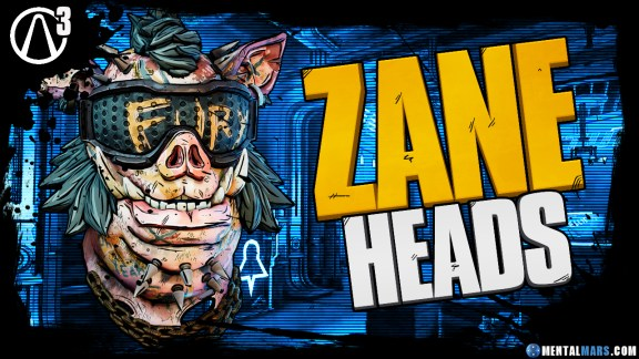Zane - Heads - Borderlands 3