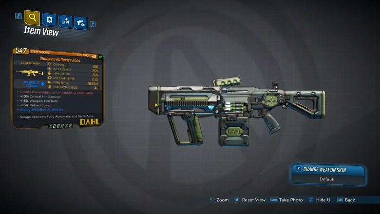 Borderlands 3 Legendary Dahl Assault Rifle - Kaos
