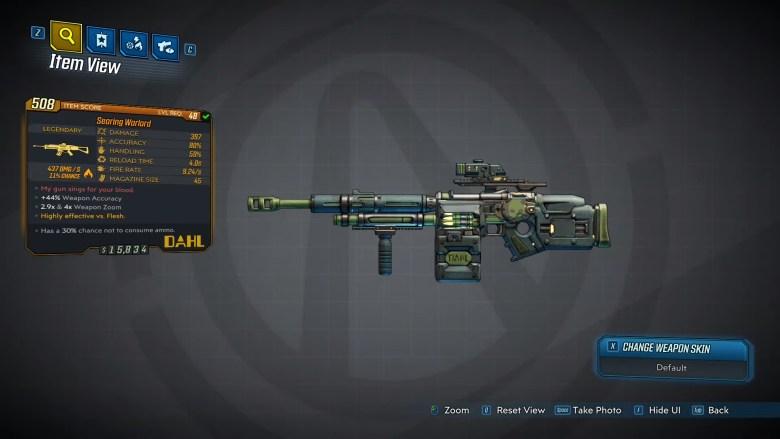 Borderlands 3 Legendary Dahl Assault Rifle - Warlord